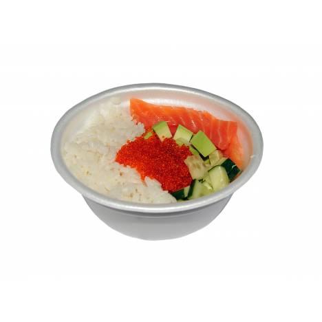 Боул японский с лососем